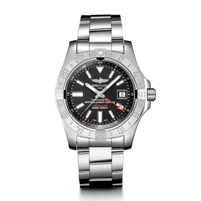 Picture of Breitling Avenger II GMT - Steel with Black Dial