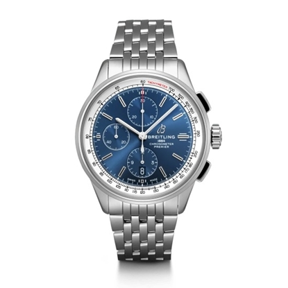 Picture of Breitling Premier Chrono 42 - Steel with Blue Dial