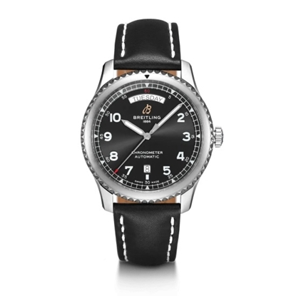 Picture of Breitling Navitimer 8 Auto Day & Date 41 - Black Leather