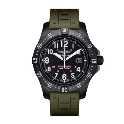 Picture of Breitling Colt Skyracer Army Green Rubber Watch