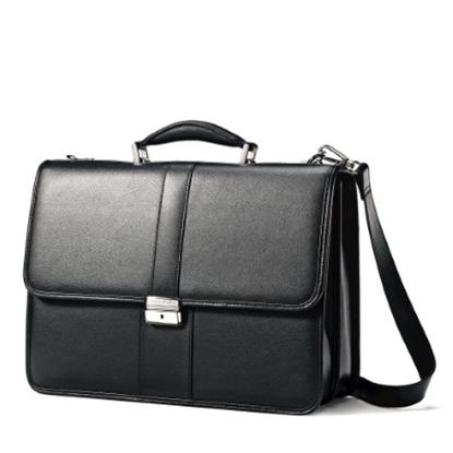 Picture of Samsonite Leather Flapover Case - Black
