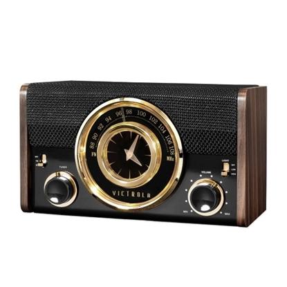Picture of Victrola Bluetooth® Analog Clock Radio - Espresso