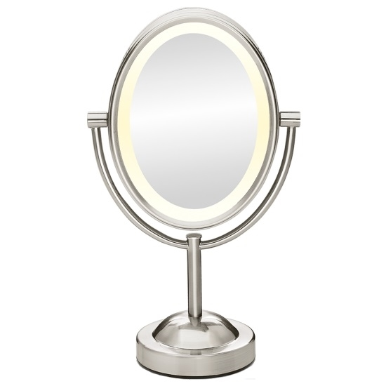 Picture of Conair 1X/7X Oval Satin Nickel Incandescent Lighted Mirror