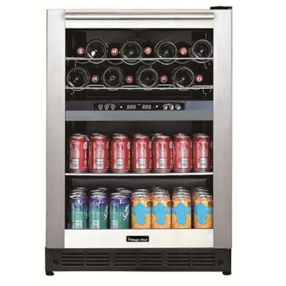 Picture of Magic Chef Dual Zone Built-In Wine Beverage Cooler