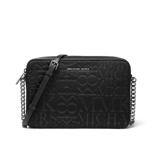 Picture of Michael Kors Large E/W Neoprene Crossbody - Black