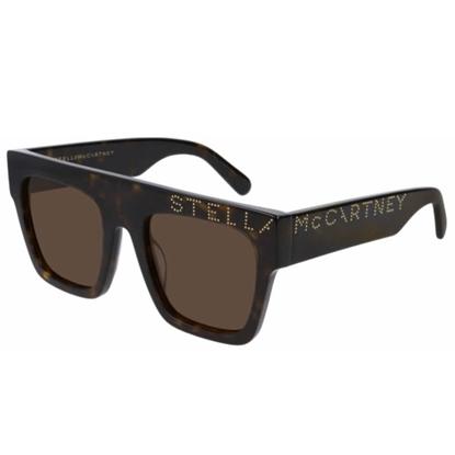 Picture of Stella Logo Square Acetate Sunglasses - Havana/Brown