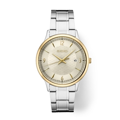 Picture of Seiko Men's Essential Stainless Steel Watch w/ Champagne Dial