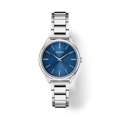 Picture of Seiko Ladies' Essential Stainless Steel Watch with Blue Dial