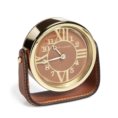 Picture of Ralph Lauren Brennan Clock - Saddle