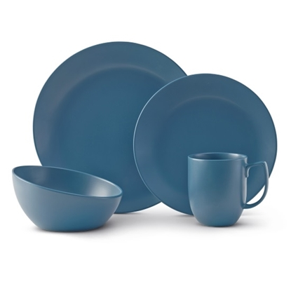 Picture of Nambe Aurora Blue 4-Piece Place Setting