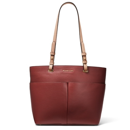Picture of Michael Kors Bedford Medium Top-Zip Pocket Tote - Brandy