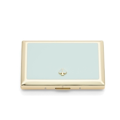 Picture of Kate Spade Spade Street Metal Aqua ID Holder