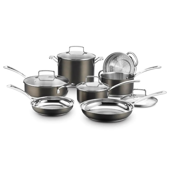 Picture of Cuisinart® Black Stainless 11-Piece Cookware Set