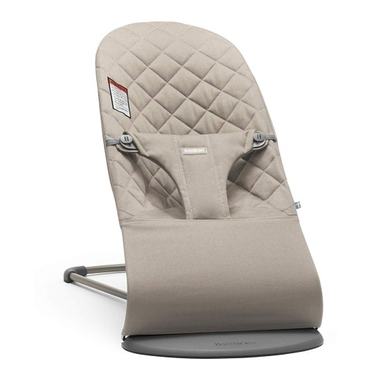 Picture of BabyBjorn Bouncer Bliss Quilted Cotton - Sand Grey