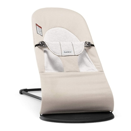 Picture of BabyBjorn Bouncer Balance Soft Cotton/Jersey - Beige/Grey