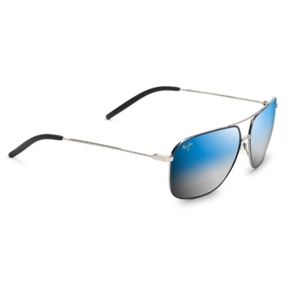 Picture of Maui Jim Kami Sunglasses w/ Dual Mirror Blue to Silver Lenses