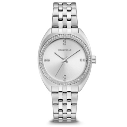 Picture of Bulova Caravelle NY Ladies' Stainless Steel & Crystal Watch