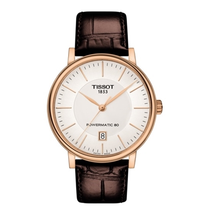 Picture of Tissot Carson Premium Powermatic 80 - Brown w/ Rose Gold Case