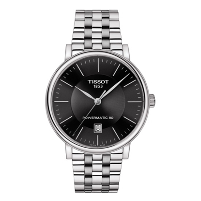 Picture of Tissot Carson Premium Powermatic 80 - Steel with Black Dial