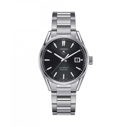 Picture of TAG Heuer Carrera Calibre 5 Steel Watch with Black Dial