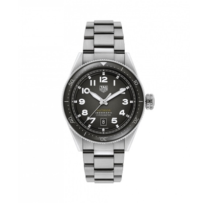 Picture of TAG Heuer Autavia Calibre 5 Steel Watch with Black Dial