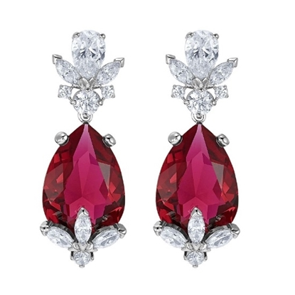 Picture of Swarovski Louison Red Pierced Earrings