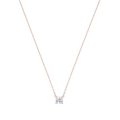 Picture of Swarovski Attract Necklace Square - Rose Gold