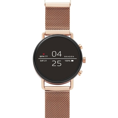 Picture of Skagen Falster Rose Gold-Tone Steel Display Smartwatch