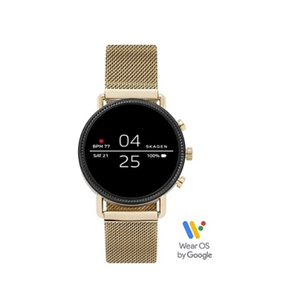 Picture of Skagen Falster Gold-Tone Stainless Steel Display Smartwatch