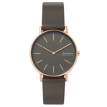 Picture of Skagen Signatur Grey Leather Watch