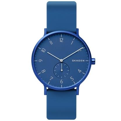 Picture of Skagen Aaren Dark Blue Silicone Watch