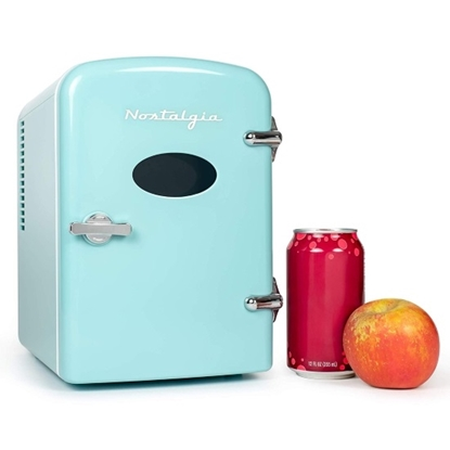 Picture of Nostalgia Elecrics™ 6-Can Mini-Fridge - Aqua