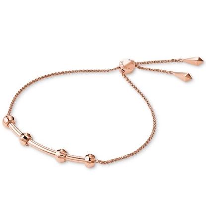 Picture of Michael Kors Starter Charm Slider Rose Gold-Tone Bracelet