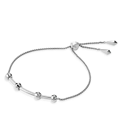 Picture of Michael Kors Starter Charm Slider Sterling Silver Bracelet