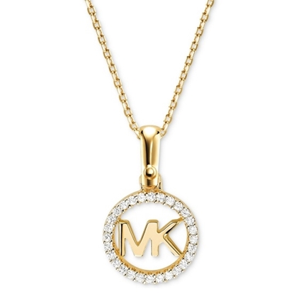 Picture of Michael Kors Logo Charm Gold-Tone Necklace