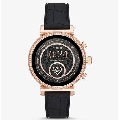 Picture of Michael Kors Sofie HeartRate Black Silicone Display Smartwatch