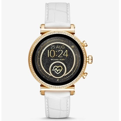 Picture of Michael Kors Sofie Heart Rate White Silicone Display Smrtwatch