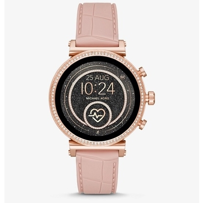 Picture of Michael Kors Sofie Heart Rate Pink Silicone Display Smartwatch