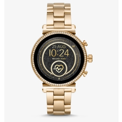 Picture of Michael Kors Sofie Heart Rate Gold-Tone Display Smartwatch