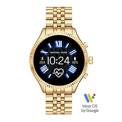 Picture of Michael Kors Lexington 2 Gold-Tone Steel Display Smartwatch