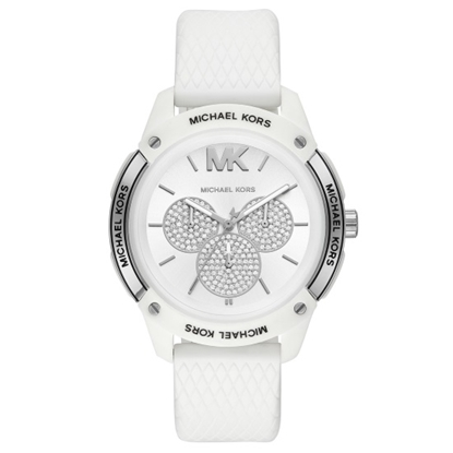 Picture of Michael Kors Ryder Silver/White Silicone Watch
