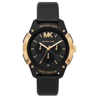 Picture of Michael Kors Ryder Gold/Black Silicone Watch