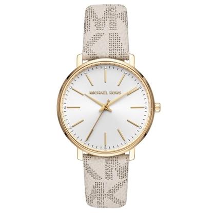 Picture of Michael Kors Pyper Vanilla Signature PVC Band Watch