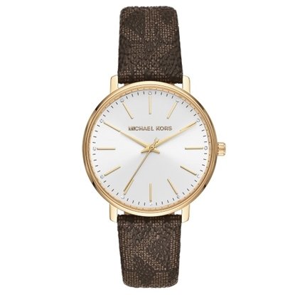 Picture of Michael Kors Pyper Brown Signature PVC Band Watch