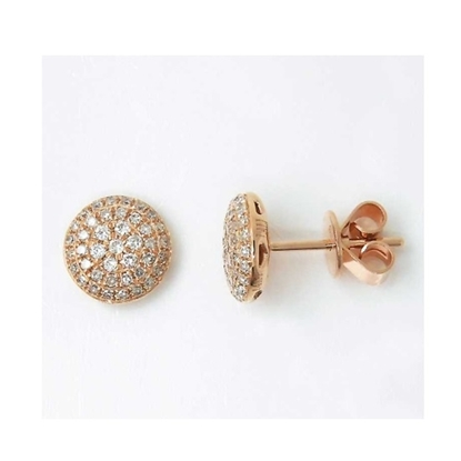 Picture of Lali 14K Rose Gold Round Diamond Earrings