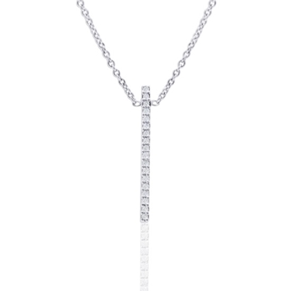 Picture of Lali 14K White Gold Diamond Long Pendant with Chain