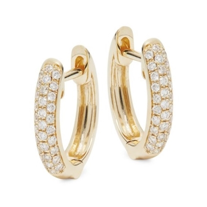 Picture of Lali 14K Yellow Gold Diamond Small Hoop Earrings