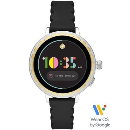 Picture of Kate Spade Raven Display Smartwatch with Black Silicone Strap