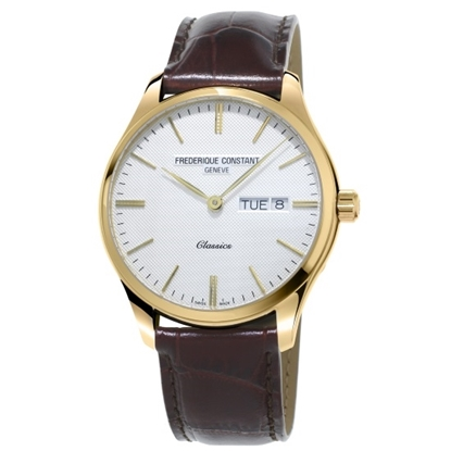 Picture of Frederique Constant Classics Quartz w/ White Dial & Tan Strap