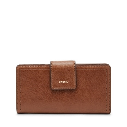Picture of Fossil Ladies Logan Bifold Wallet - Brown